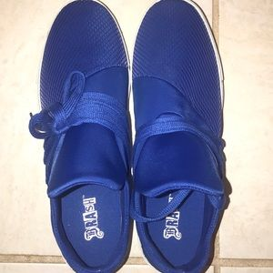 Brash blue sneakers